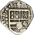 Colombia, Colombia: Felipe IV Cartagena Cob 4 Reales ND (1627-30) RN-E,...