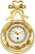 Timepieces:Clocks, French Ornate Gilt & Marble Wall Clock, circa 1880. ...