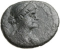 Ancients:Greek, Ancients: PTOLEMAIC EGYPT. Cleopatra VII Thea Neotera and MarkAntony (51-30 BC). Æ 21 (5.16 gm, 11h)....