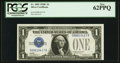 Small Size:Silver Certificates, Fr. 1603 $1 1928C Silver Certificate. PCGS New 62PPQ.. ...