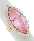 Estate Jewelry:Rings, Pink Stone, Clear Stone, Gold Ring. ...