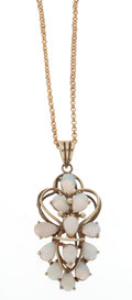 Estate Jewelry:Necklaces, Opal, Gold Necklace. ...
