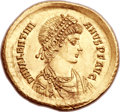 Ancients:Roman Imperial, Ancients: Valentinian II (AD 375-395). AV solidus (21mm, 4.44 gm, 6h)....