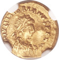 Ancients:Roman Imperial, Ancients: Majorian, Western Roman Emperor (AD 457-461). AV tremissis (13mm, 1.50 gm, 12h)....