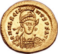Ancients:Roman Imperial, Ancients: Marcian, Eastern Roman Emperor (AD 450-457). AV solidus (21mm, 4.49 gm, 6h). ...