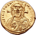 Ancients:Byzantine, Ancients: Justinian II, First Reign (AD 685-695). AV solidus (20mm, 4.46gm, 6h). ...