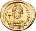Ancients:Byzantine, Ancients: Justinian I (AD 527-565). AV solidus (22mm, 4.21 gm,6h)....