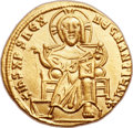 Ancients:Byzantine, Ancients: Basil I the Macedonian, with Constantine (AD 867-886). AVsolidus (20mm, 4.35 gm, 6h)....