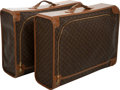 Luxury Accessories:Travel/Trunks, Vintage Set of Two: Louis Vuitton for French Company ClassicMonogram Canvas Soft-Sided Suitcases. ... (Total: 2 )