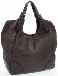 Givenchy Brown Crocodile-Embossed Leather Oversize Hobo Bag
