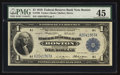 Fr. 708 $1 1918 Federal Reserve Bank Note PMG Choice Extremely Fine 45