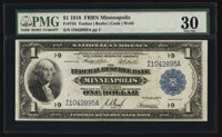 Fr. 734 $1 1918 Federal Reserve Bank Note PMG Very Fine 30