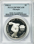 Modern Issues, 1983-S $1 Olympic Silver Dollar PR70 Deep Cameo PCGS....