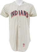 Baseball Collectibles:Uniforms, 1970 Larry Brown Game Worn Cleveland Indians Jersey - One Year Style....