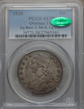 Bust Half Dollars, 1828 50C Square Base 2, Small 8, Large Letters AU58 PCGS. CAC.O-117, R.1....