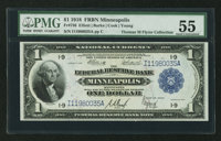 Fr. 736 $1 1918 Federal Reserve Bank Note PMG About Uncirculated 55