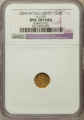 California Fractional Gold: , 1864 50C Liberty Octagonal 50 Cents, BG-918, R.4, -- Scratched --NGC Details. Unc. NGC Census: (0/4). PCGS Population (2/5...