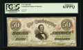 Confederate Notes:1863 Issues, T57 $50 1863 PF-1 Cr. 406. ...