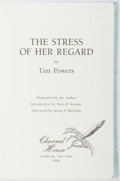 Books:Signed Editions, Tim Powers. SIGNED/LIMITED. The Stress of Her Regard. New York: Charnel House, 1989. First edition, first printi...