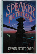 Books:First Editions, Orson Scott Card. Speaker for the Dead. New York: Tor, 1986.First edition, first printing. Publisher's binding and ...