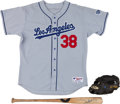 Baseball Collectibles:Uniforms, 2000's Eric Gagne Game Worn Los Angeles Dodgers Jersey, Glove &Bat. ...