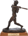 Baseball Collectibles:Others, 1974 Hank Aaron's First Home Run Bronze Sculpture by Holland....