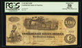 Confederate Notes:1862 Issues, T40 $100 1862 PF-4. . ...