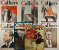 """Books:Prints & Leaves, [Antique Illustration] Lot of Seven Color Lithograph Covers ofCollier's Weekly, Circa 1903-1916. 10.5"""" x 15"""". A... (Total:7 Items)"""