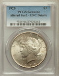 Peace Dollars, 1925 $1 -- Altered Surface -- PCGS Genuine. UNC Details. NGCCensus: (20/44554). PCGS Population (59/38286). Mintage: 1...