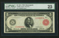 Fr. 840b $5 1914 Red Seal Federal Reserve Note PMG Very Fine 25
