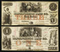 Obsoletes By State:Iowa, Anamosa, IA- The Wapsipinicon Land Co. $1; $3 March 4, 1858 Oakes 3-1; 2. ... (Total: 2 notes)