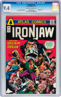 Bronze Age (1970-1979):Miscellaneous, Ironjaw #4 (Atlas-Seaboard, 1975) CGC NM 9.4 Off-white to whitepages....