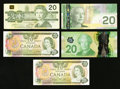 Canadian Currency: , $20 Canadian Notes.. ... (Total: 5 notes)