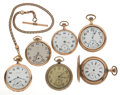 Timepieces:Pocket (post 1900), A Lot Of Six Pocket Watches For Parts Or Repair. ... (Total: 6Item)