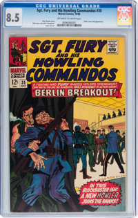 Sgt. Fury and His Howling Commandos #35 (Marvel, 1966) CGC VF+ 8.5 Off-white to white pages