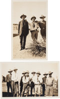 Photography, [Texas Rangers]. Pair of Photographs of Prohibition Era Texas Rangers Including Captain Tom R. Hickman.... (Total: 2 Items)