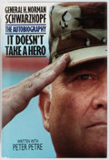Books:Biography & Memoir, General H. Norman Schwarzkopf and Peter Petre. SIGNED. ItDoesn't Take A Hero. New York: Bantam Books, 1992. First e...