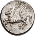Ancients:Greek, Ancients: CORINTHIA. Corinth. Ca. 375-300 BC. AR stater (21mm, 8.58gm, 1h)....