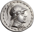 Ancients:Greek, Ancients: GRECO-BACTRIAN KINGDOM. Eucratides I the Great (ca.170-145 BC). AR tetradrachm (34mm, 16.89 gm, 12h). ...