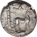 Ancients:Greek, Ancients: SICILY. Messana. Ca. 420-410 BC. AR tetradrachm (27mm,17.35 gm, 9h). ...