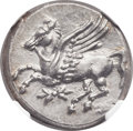 Ancients:Greek, Ancients: BRUTTIUM. Locris Epizephyroi. Ca. 317-310 BC. AR stater (23mm, 8.65 gm, 3h)....