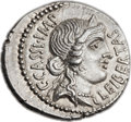 Ancients:Roman Republic, Ancients: C. Cassius Longinus, Assassin of Caesar (early 42 BC). AR denarius (20mm, 3.76 gm, 6h)....