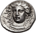 Ancients:Greek, Ancients: THESSALY. Larissa. Ca. 380-360 BC. AR dachm (19mm, 5.94gm, 6h). ...