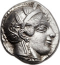 Ancients:Greek, Ancients: ATTICA. Athens. Ca. 460-454 BC. AR tetradrachm (24mm,17.16 gm, 9h). ...