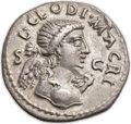 Ancients:Roman Imperial, Ancients: Clodius Macer, usurper in Africa (AD 68). AR denarius (18mm, 3.11 gm, 6h). ...