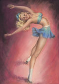 Paintings, BILLY DE VORSS (American, 1908-1985). Skating Vanities of 1950, souvenir program guide. Pastel on board. 34 x 24 in.. Si...