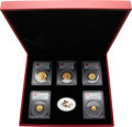 China, China: People's Republic of China Five-piece First Strike Prestige Panda gold set, with 1 Ounce silver Medal 2012, ... (Total: 6 items)