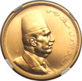 Egypt, Egypt: Fuad I gold Proof 500 Piastres 1922,...