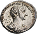 Ancients:Roman Imperial, Ancients: Trajan (AD 98-117). AR denarius (18mm, 3.43 gm, 7h)....