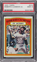 Baseball Cards:Singles (1970-Now), 1972 Topps Roberto Clemente IA #310 PSA Mint 9 - Pop Four, NoneHigher....